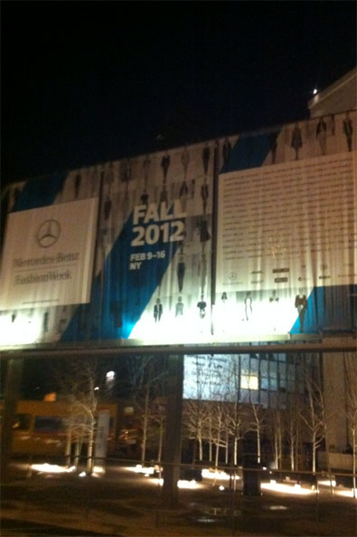 Fall 2012 sign at Lincoln Center