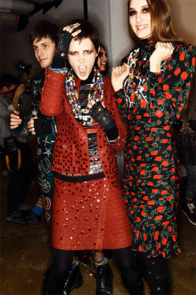 Caitlin Lomax backstage at Libertine