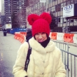 I thought this lady looked so cute in her red hat and fur coat
