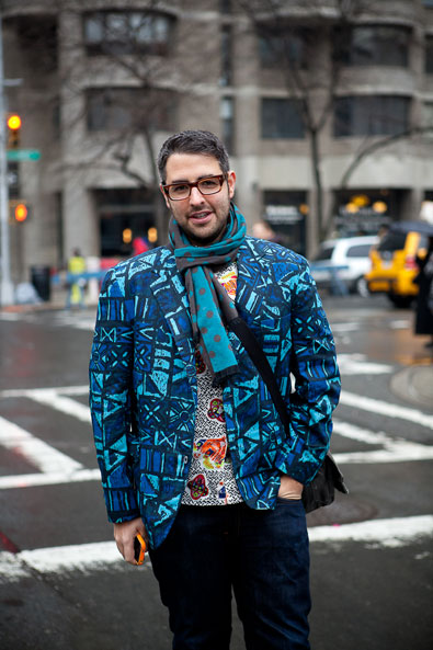Ari Seth Cohen of Advanced Style arriving at the Lincoln Centre