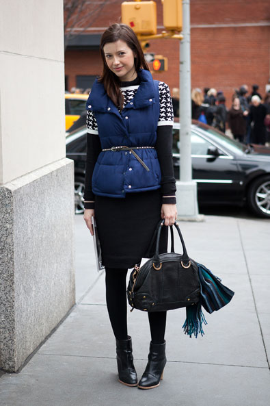 outside Ralph Lauren, belt your puffer vest