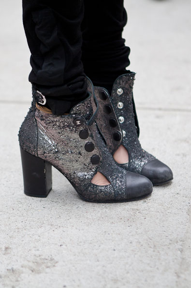 the Chanel must have glitter bootie of the season