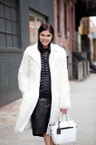 Into the Gloss editor Emily Weiss looking gorgeous in winter white