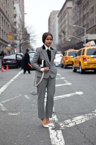 Miroslava Mikheeva-Duma stops traffic outside Ralph Lauren