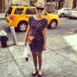 Cat-Ete Sunglasses and a Polka-Dotted Dress