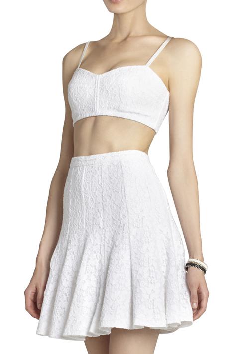BCBG Max Azria Lace Bra Cami and Quinnie Lace Skirt
