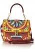 Dolce & Gabbana Dolce m Medium Woven Raffia Shoulder Bag