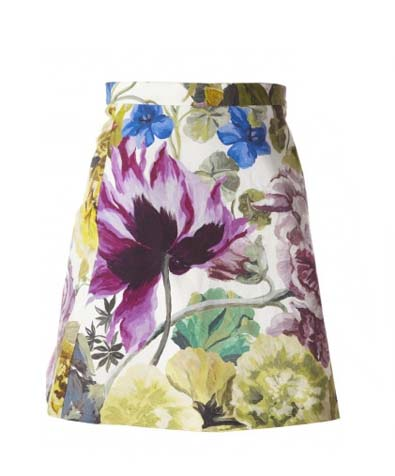 Alice and Olivia Riley A-Line Short Skirt