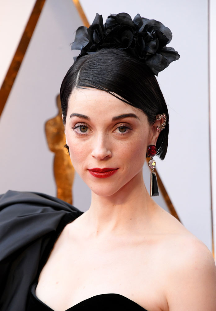 Quirky-Good: St. Vincent  The Best (and Worst!) Beauty Looks From the 2018 Oscars st vincent