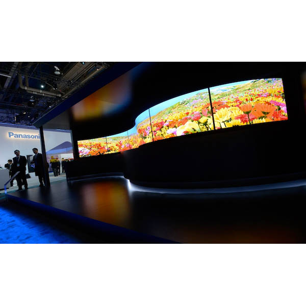 Panasonic TV with curves