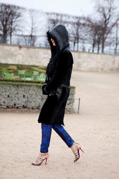 Caroline Issa arriving at the Tuileries for the Chloe Show