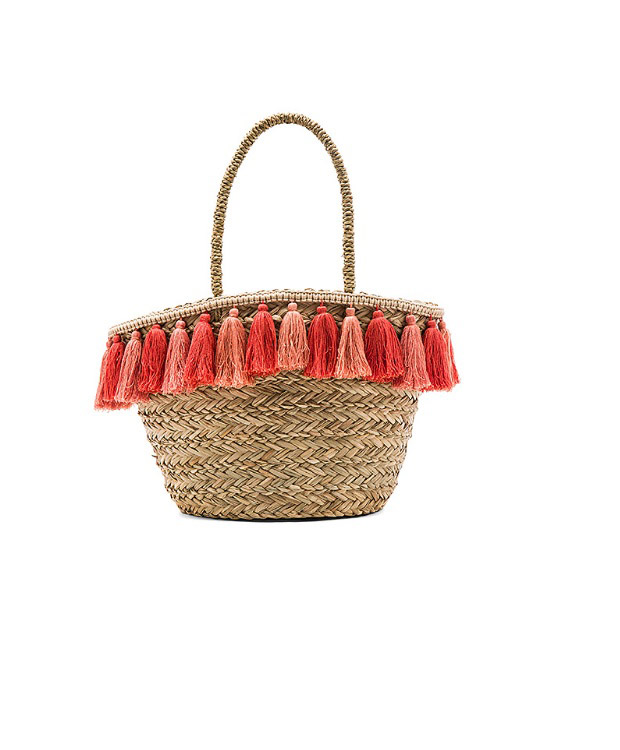 Florabella  Raffia and Straw Basket Bags Are the Surprising City Essential for Spring 2018 florabella wilmington tote