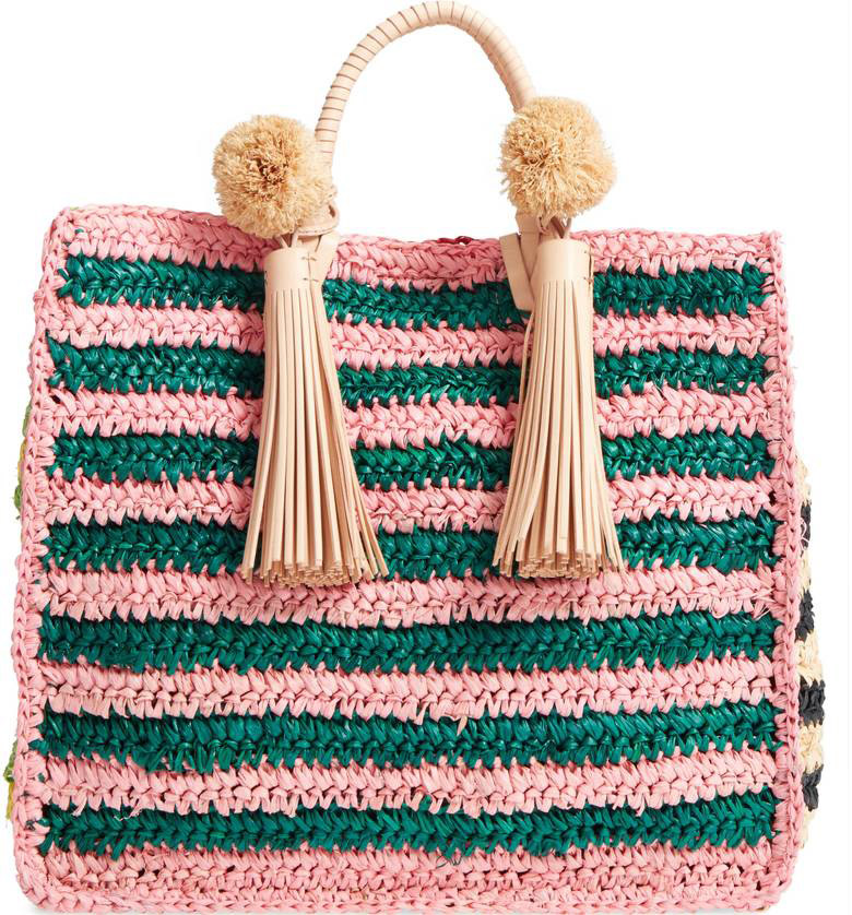 Loeffler Randall  Raffia and Straw Basket Bags Are the Surprising City Essential for Spring 2018 loeffler randall straw travel tote