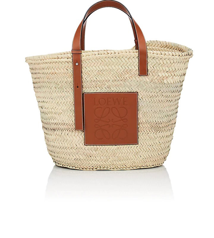 Loewe  Raffia and Straw Basket Bags Are the Surprising City Essential for Spring 2018 loewe large raffia basket bag