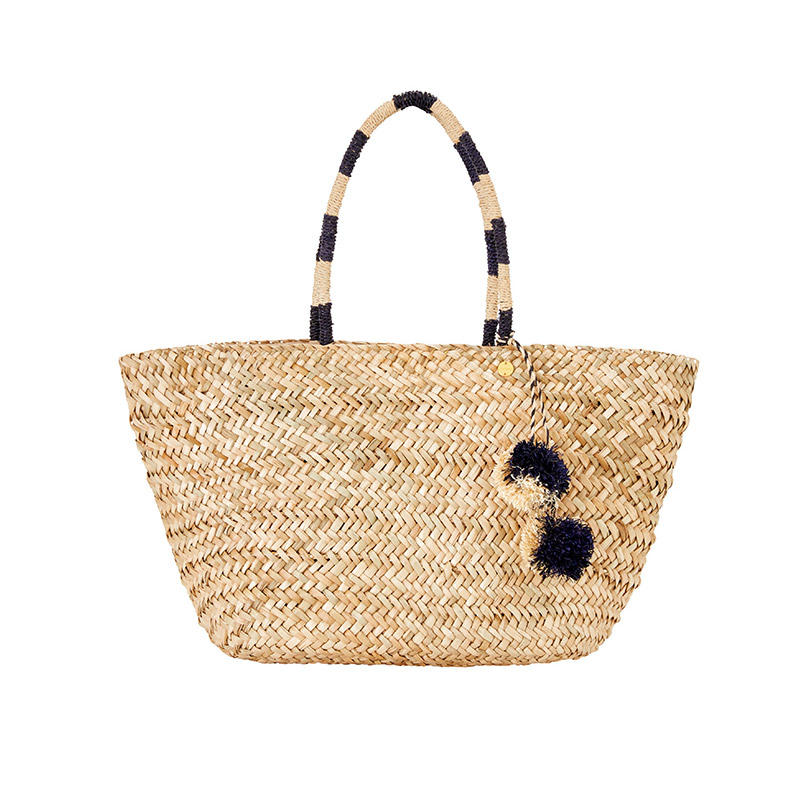 Seafolly  Raffia and Straw Basket Bags Are the Surprising City Essential for Spring 2018 seafolly carried away pom pom beach basket