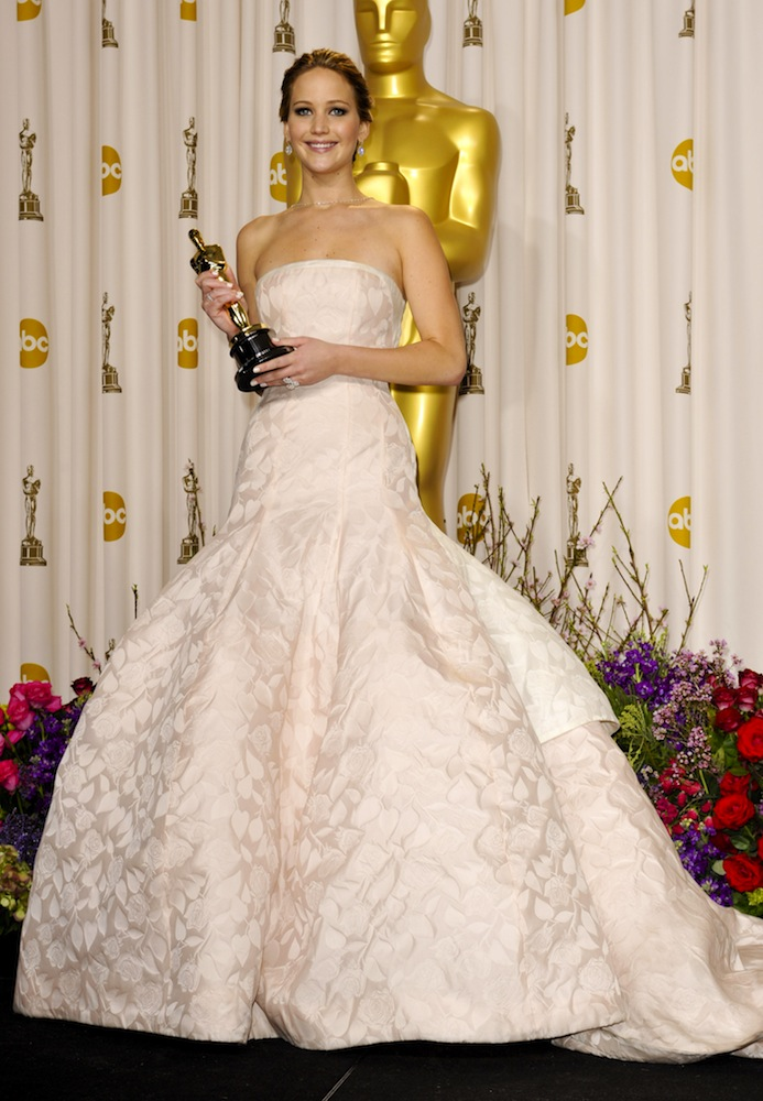 2013: Jennifer Lawrence in Christian Dior Couture