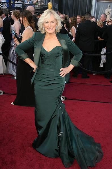 Glenn Close in Zac Posen