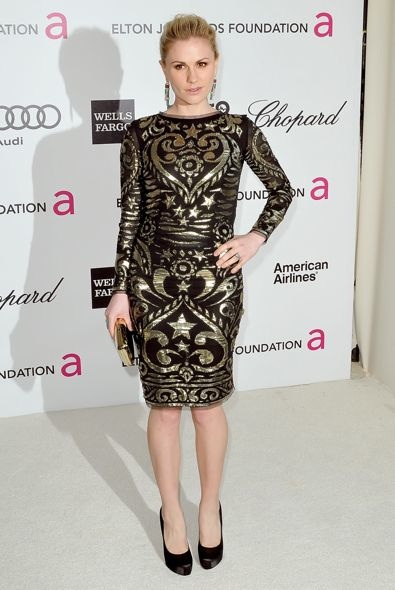 Anna Paquin at the 20th Annual Elton John AIDS Foundation Academy Awards Viewing Party