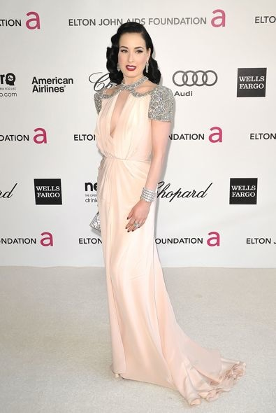 Dita Von Teese at the 20th Annual Elton John AIDS Foundation Academy Awards Viewing Party