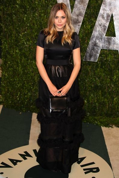 Elizabeth Olsen at the 2012 Vanity Fair Oscar Party