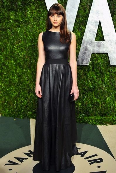 Felicity Jones at the 2012 Vanity Fair Oscar Party