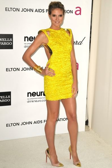 Heidi Klum at the 20th Annual Elton John AIDS Foundation Academy Awards Viewing Party