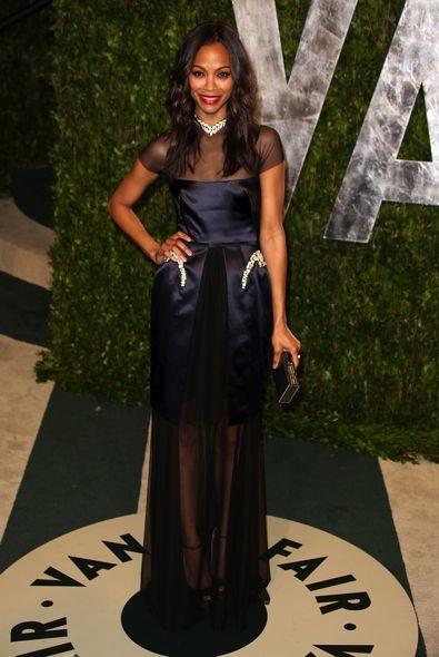 Zoe Saldana at the 2012 Vanity Fair Oscar Party