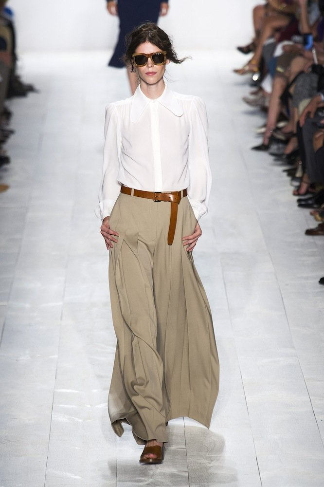 Wide-Legged Trousers at Michael Kors