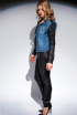 DIAMOND JACKET AND JANE SKINNY JEAN IN BLACK LEATHER