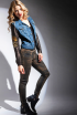 NORTON JACKET AND MARILYN SKINNY JEAN IN CUIR BLACK