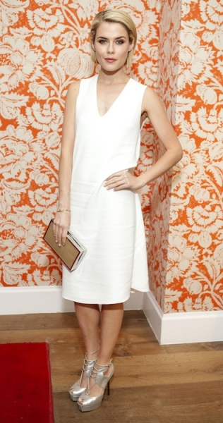 Rachael Taylor Wears Winter Whites