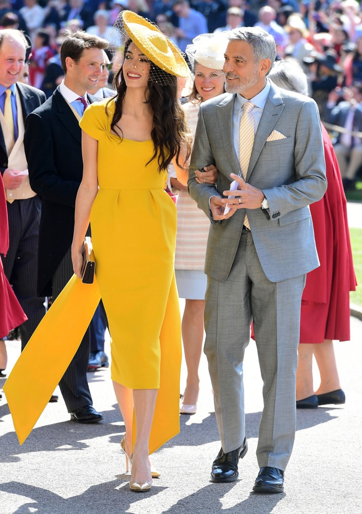 Amal and George Clooney at the Ceremony