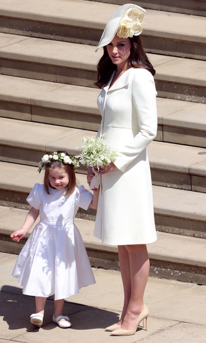 Princess Charlotte and Kate Middleton at the Ceremony