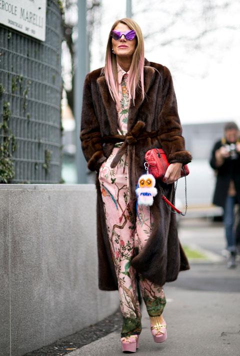 Anna Dello Russo in Milan