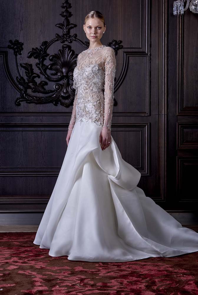 101 most beautiful wedding dresses for spring 2016 thefashionspot monique lhuillier bridal spring 2016 junglespirit Image collections