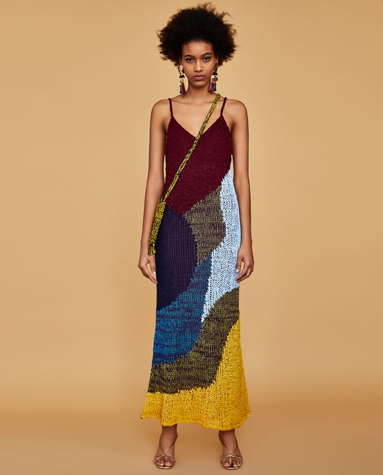Zara  25 Statement-Making Spring Dresses Under $100 Zara Multicolor Dress