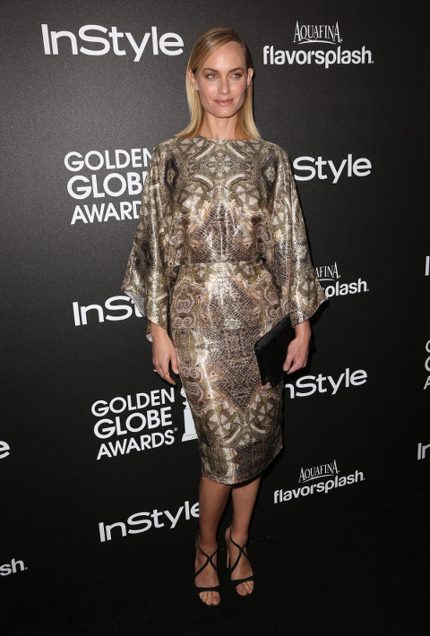 Amber Valletta at the Golden Globe Announcements