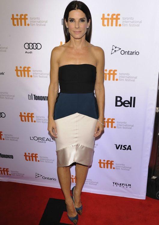 Sandra Bullock at the Premiere of Gravity