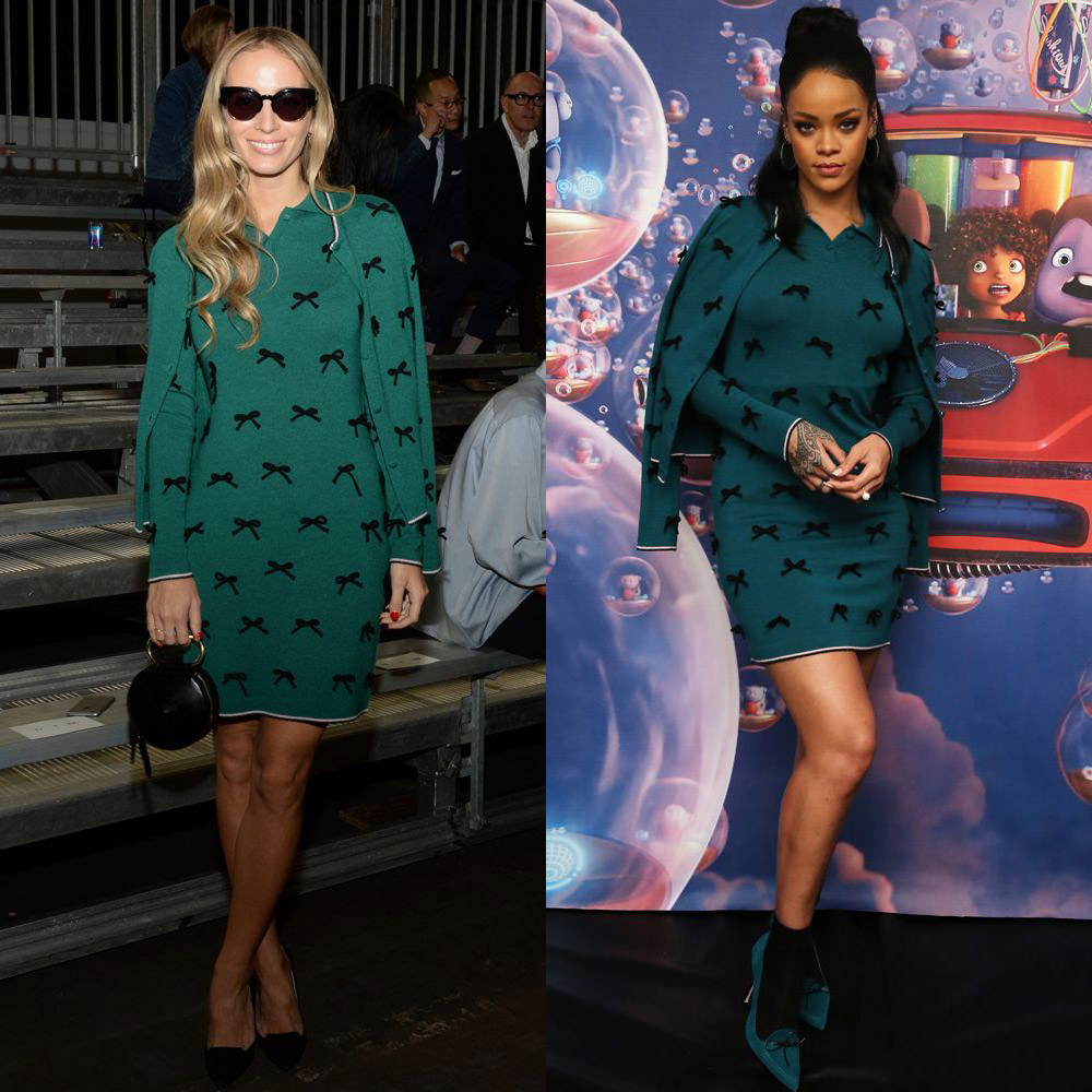 Harley Viera-Newton and Rihanna in Adam Selman