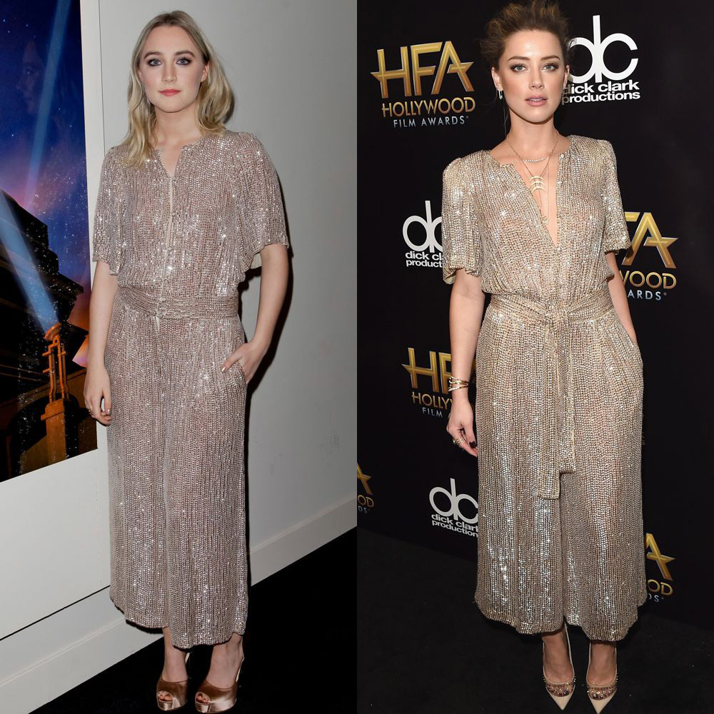Saoirse Ronan and Amber Heard in Temperley London