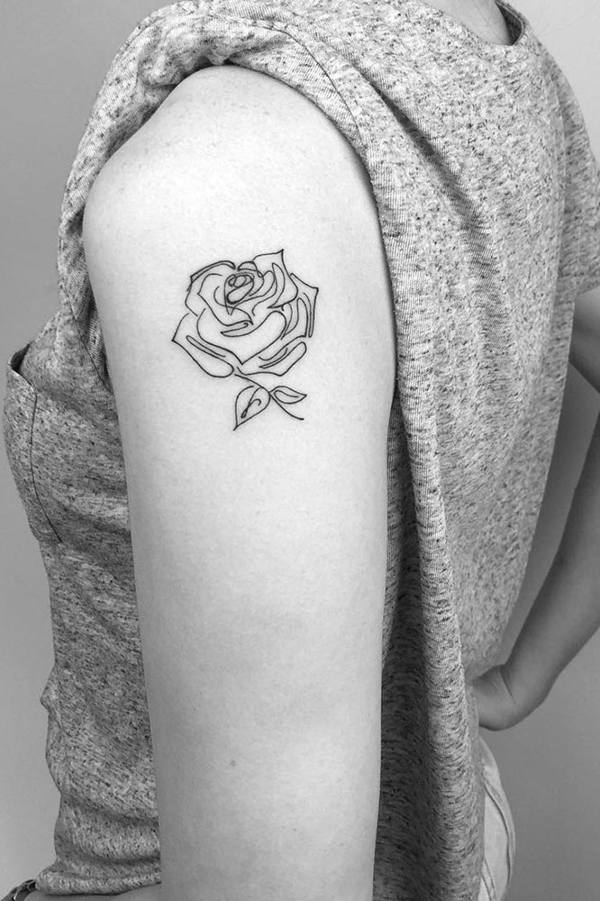 Beautiful shoulder tattoos for women thefashionspot a different kind of rose mightylinksfo