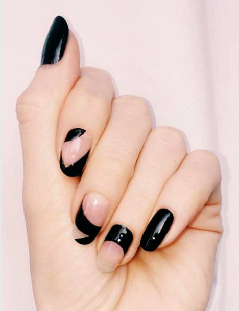 Asymmetrical Nails - 11 Cute Nail Designs To Up Your Nail Art Game - TheFashionSpot