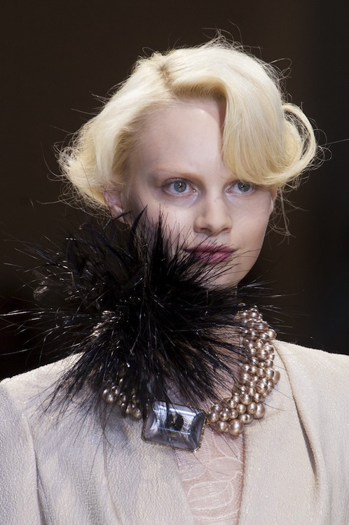 Armani Prive's Plumed Necklace
