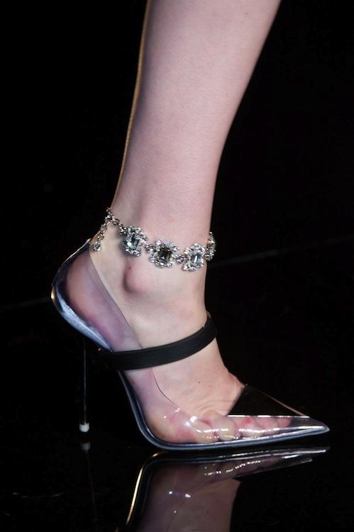 Atelier Versace's Blinged Out Anklet Bracelets