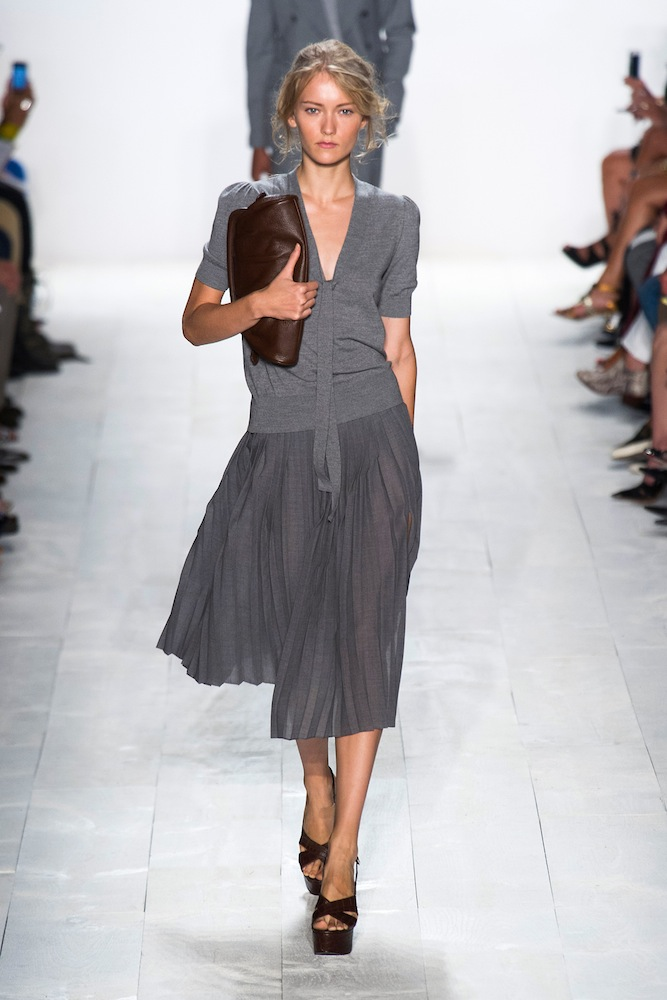 Inverted Triangle: Pleated Skirts at Michael Kors