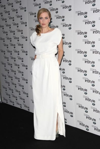 Gillian Anderson at InStyle Magazine's 10th Anniversary Party