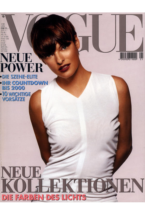 Linda Evangelista for Vogue Germany January 1999