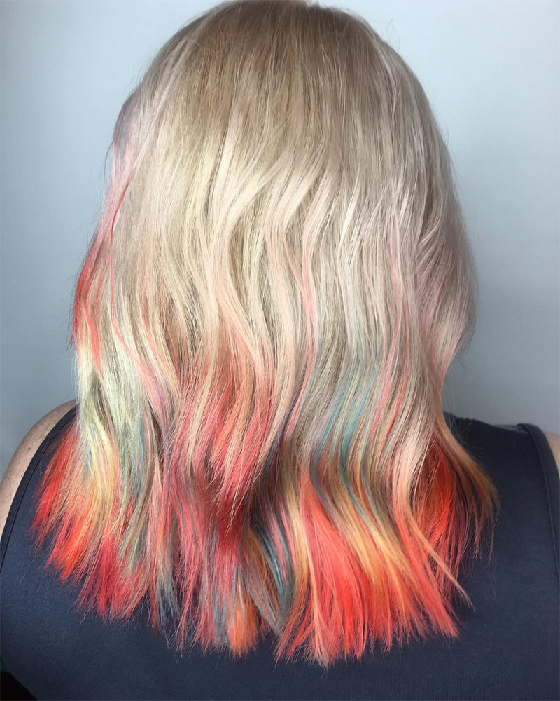 Dip Dye Hair Color: All the Fun With Half the Risk