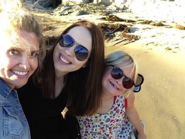 Lauren Potter Hits the Beach