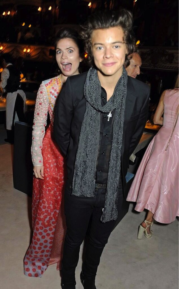 Hayley Atwell Photobombs Harry Styles